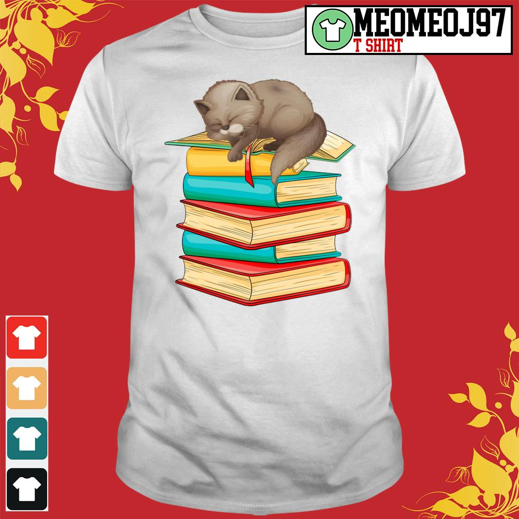 Cats sleep with books shirt