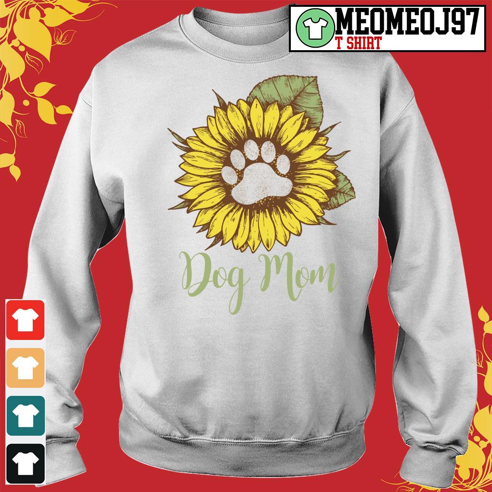 Sunflower paw dog mom s Sweater