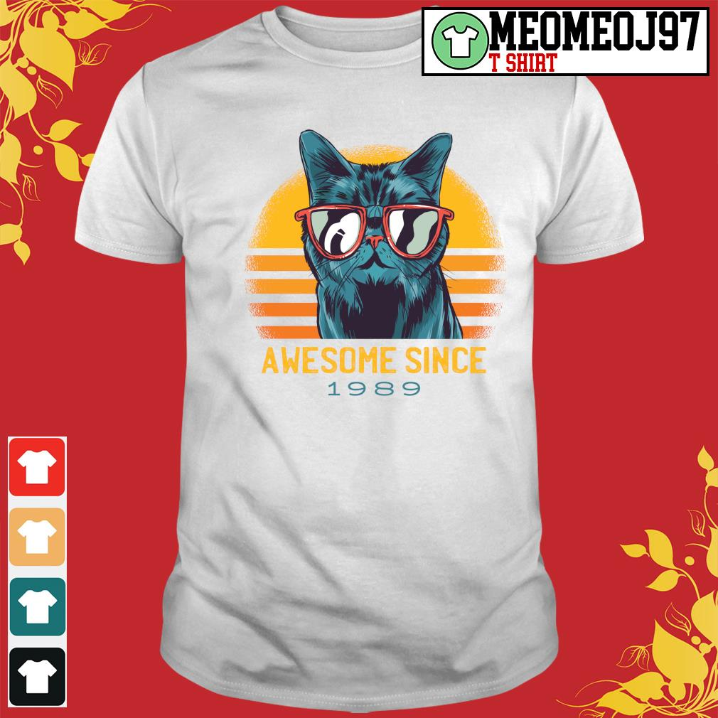 Vintage cats awesome since 1989 shirt