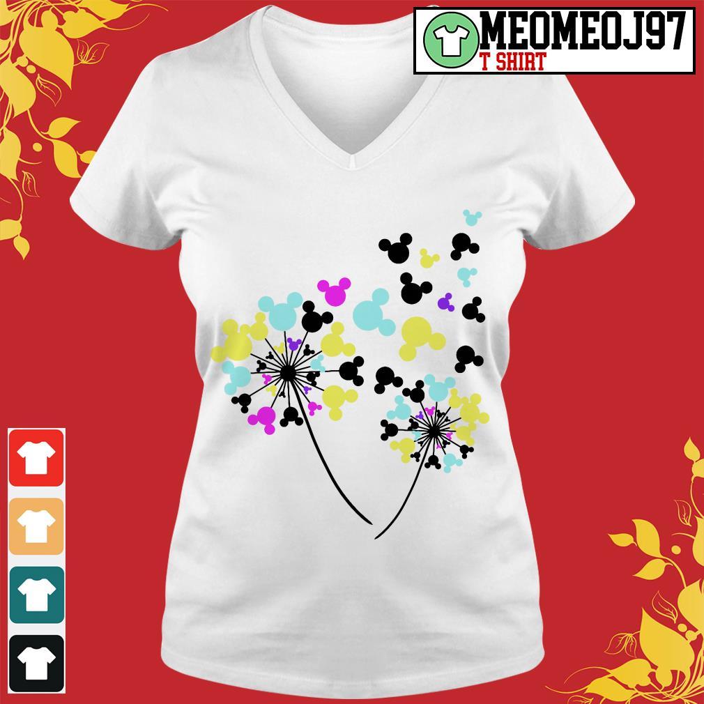 Disney flowers Mickey Mouse V-neck t-shirt