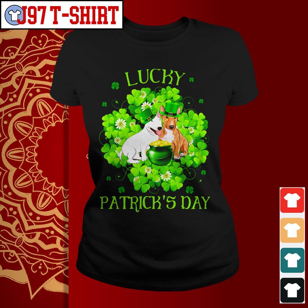 Lucky dog Patrick's day Ladies tee