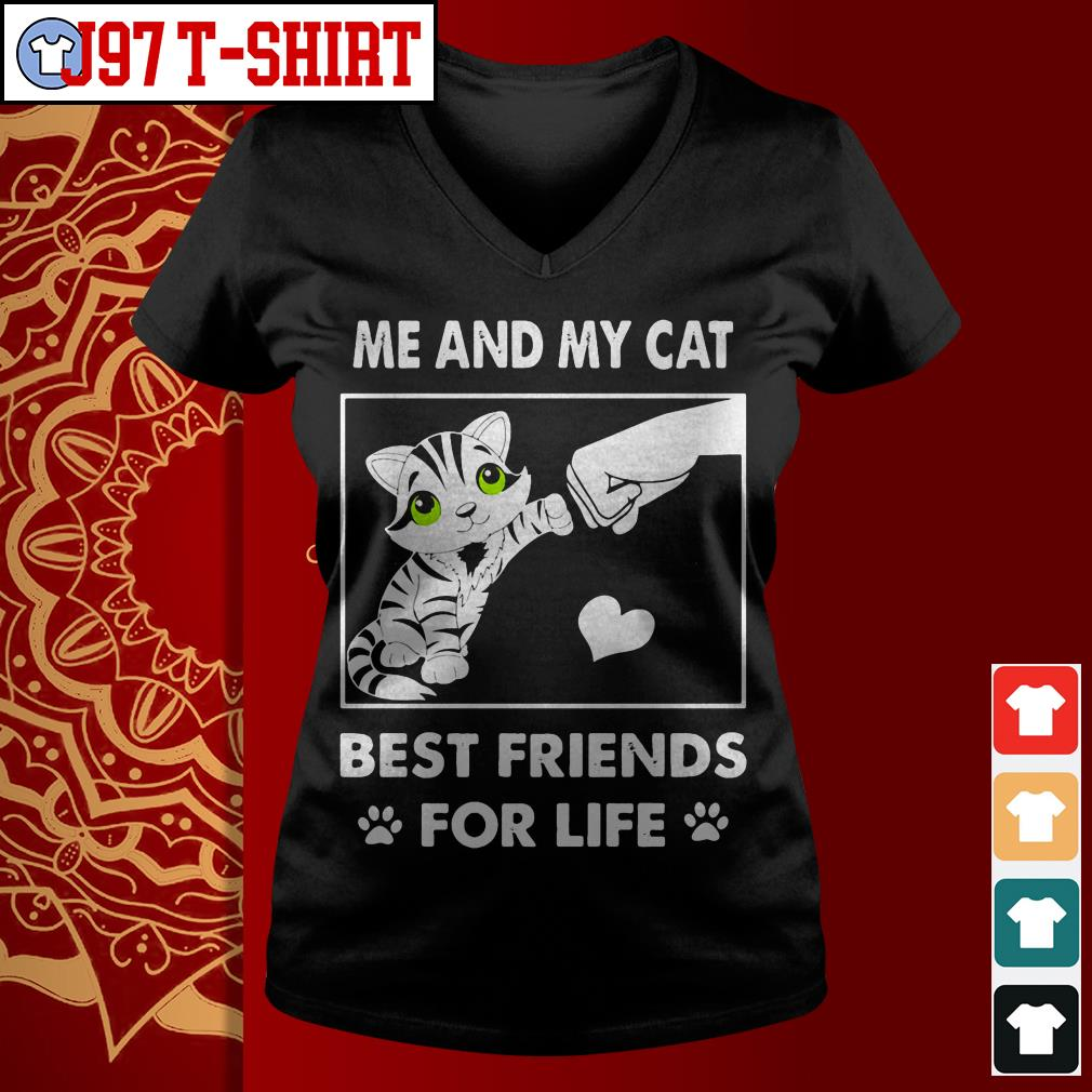 Me and my cat best friends for life V-neck t-shirt