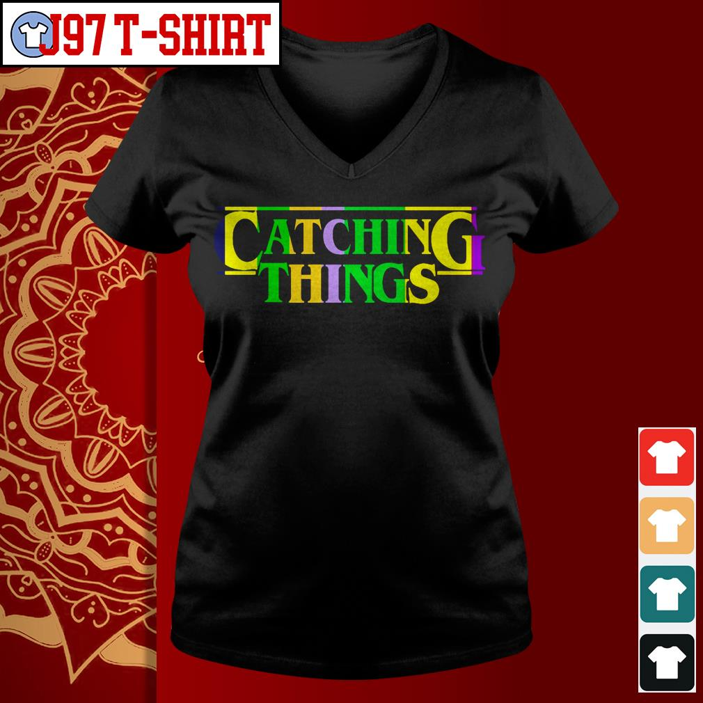 Official Catching things V-neck t-shirt