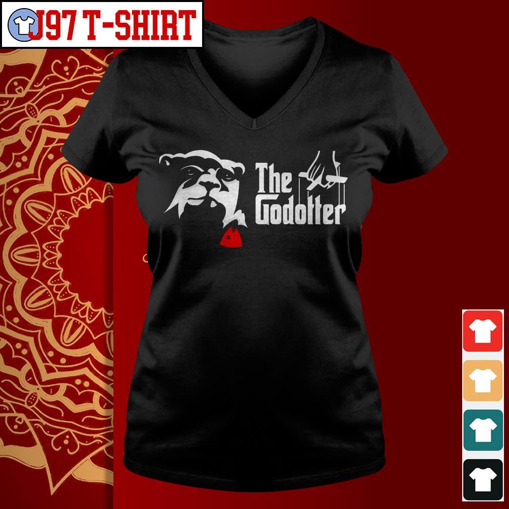 Otter the godotter V-neck t-shirt