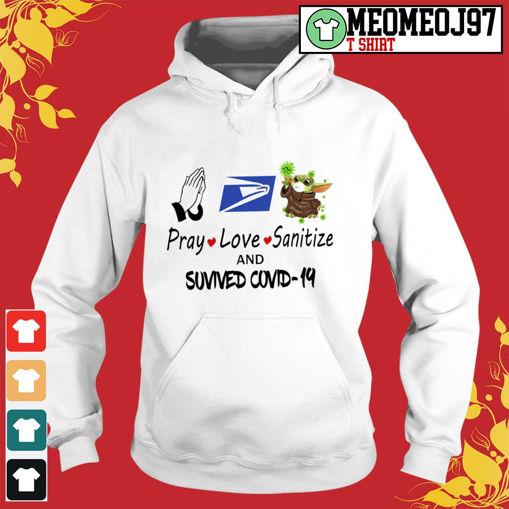 Pray love sanitize and survived Covid-19 Hoodie