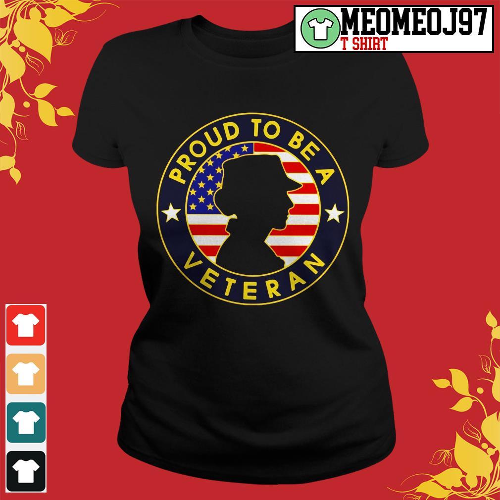Proud to be a Veteran women's America ladies tee
