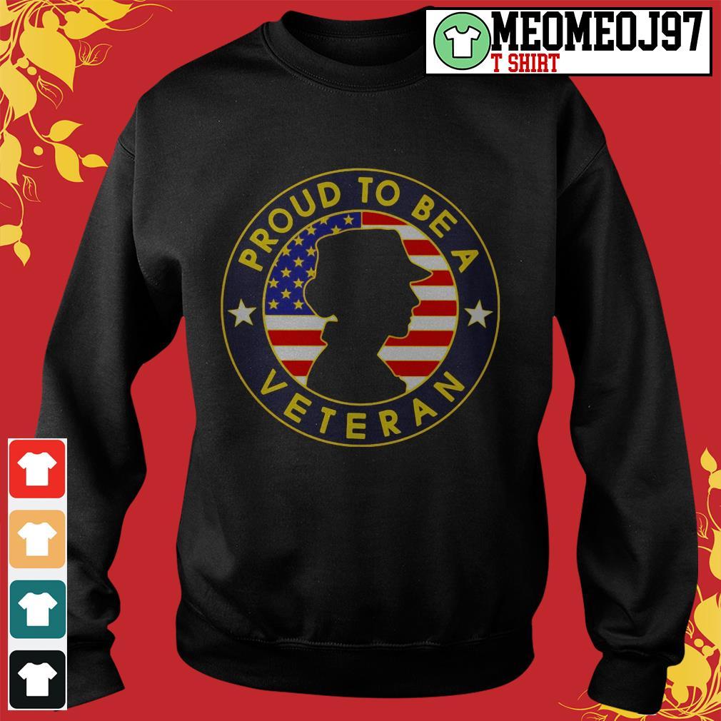 Proud to be a Veteran women's America Sweater